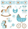Baby boy toys vector image vector image
