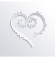 Abstract White Heart vector image vector image
