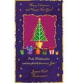 Classic Christmas tree vector image vector image