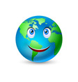 Smiling planet earth vector image vector image