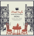 street cafe with table vector image