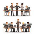 business character at the table in conference hall vector image
