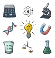 Color Science Icons Sketch vector image