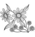 decorative camomiles vector image