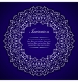 Elegant invitation card with silver round ornament vector image