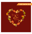 Vintage Autumn Floral Graphic Design - for Card vector image