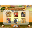Game template with wild animals in the field vector image vector image