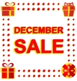 Big winter sale poster with DECEMBE SALE text vector image