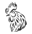 with black rooster head vector image