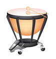 A Beautiful Classical Timpani on White Background vector image