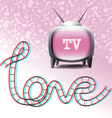 Love tv set vector