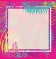 tropical palm leaf border vector image