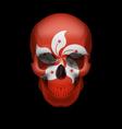 Hong Kong flag skull vector image