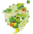 dancing leprechaun vector image
