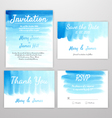 Set Invitation watercolor vector image