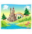 Panorama with castle vector image