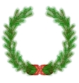 christmas fir branch wreath frame vector image vector image