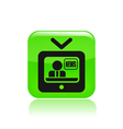 tv journalist icon vector image vector image