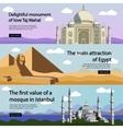 Travel banner set International culture vector image vector image