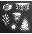 Light effects white set vector image vector image