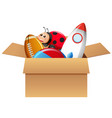boy full of toys vector image