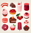 cherry desserts vector image