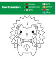 children educational game coloring page with cute vector image