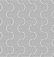 Curved striped geometric seamless pattern vector image