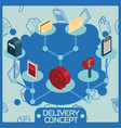 delivery color isometric concept vector image