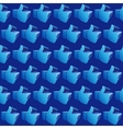 Like symbol on white background pattern vector image