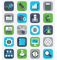 Set of flat analytics and statistics icons vector image