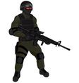 SWAT team member AR15 green vector image