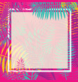 tropical palm leaf border vector image