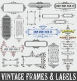 Vintage Frames and Labels vector image