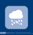 weather icon cloud rain lightning sign vector image