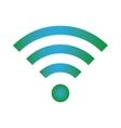 Wifi icon blue green color vector image