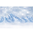 winter mountain vector image