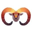 Bright Ram zodiac Aries sign vector image
