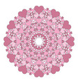 colored round lovely mandala old pink vector image