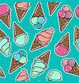 Seamless pattern with icecreams vector image