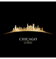 Chicago Illinois city skyline silhouette vector image
