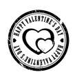 Black valentine stamp vector