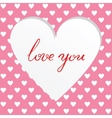 cutted heart background vector image vector image