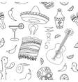 Doodle pattern mexico vector image