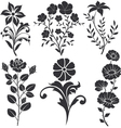 flowers decorative vector image