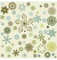 Decorative snowflake background vector image
