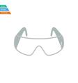 Flat design icon of chemistry protective eyewear vector image