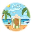Vacation and Summer Card Concept vector image vector image