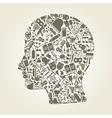 Head art vector image