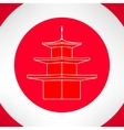Buddhist pagoda in modern flat design vector image
